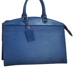 Louis Vuitton Vintage Leather Satchel in Blue