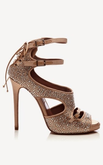 Tabitha Simmons Gold Pumps