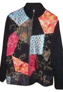 White Stag Jacquard Quilted Winter Jacket Multicolor Blazer