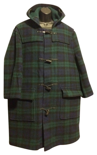 Preload https://item2.tradesy.com/images/brooks-brothers-plaid-evergreenblack-green-wool-toggle-pea-coat-size-os-one-size-10223566-0-1.jpg?width=400&height=650