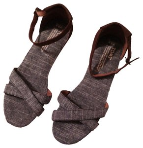 TOMS Denim/brown Sandals