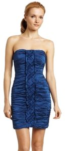 BCBGMAXAZRIA Party Evening Colbalt Cobalt Saphire Navy Maxazria Saks Saks Fifth Avenue Strapless Sweetheart Mariko Dress