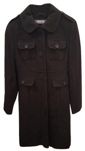 Kenneth Cole Reaction Wool Single Breasted Pockets Pea Coat