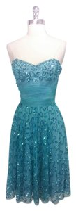Betsey Johnson Turqouise Sequin Evening Wear Dress