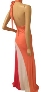 Coral and White Maxi Dress by Other