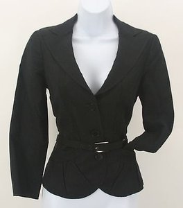 Emporio Armani Emporio Armani Black Two-button Belted Blazer B260