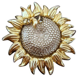 Liz Claiborne SunFlower and Honey Bee Brooch