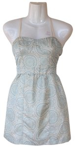American Eagle Outfitters short dress beige, teal New Paisley on Tradesy