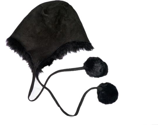 Other Hat-Leather suede -pom-poms -size m Image 0