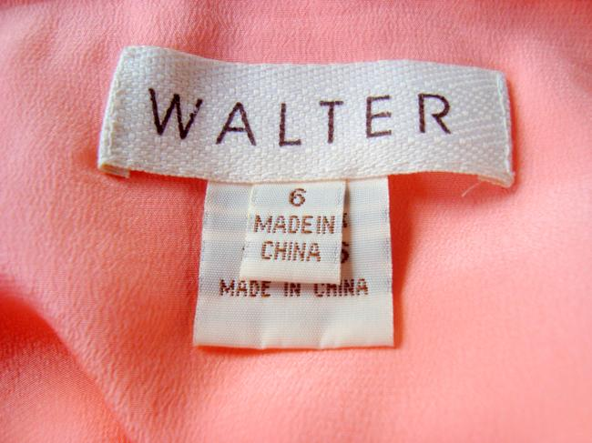 W118 by Walter Baker Pink Silk Ruffled Pink Pink Size 6 Skirt Salmon Pink