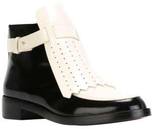 Tory Burch Patent Leather Color-blocking Black and White Boots