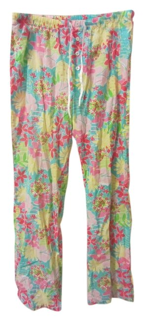 Item - Floral Multi Pink Yellow Blue Turquoise Pants Size 4 (S, 27)