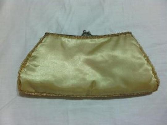 Other Beaded Satin Gold Clutch