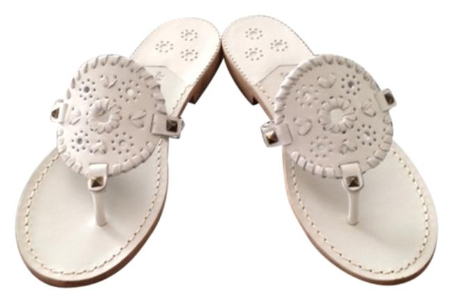 Item - White Georgica Sandals Size US 9