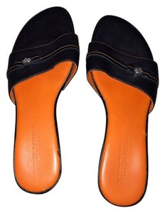 Harley Davidson Black and orange Mules