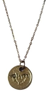 alisa michelle alisa michelle ohm coin pendant necklace