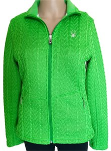 Spyder Fleece Lined Cable Knit Green Jacket