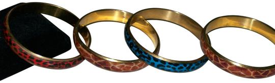 reb 4-piece animal print bangle bracelets