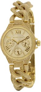 Michael Kors MINI CAMILLE GOLD TONE GLITZ CHAIN WATCH