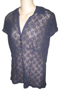 Apt. 9 Lace Lace Top Navy