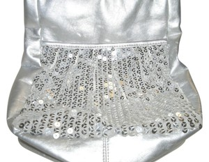 Limited Too Pvc Evening Beaded Satchel in Silver