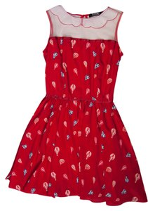 Romwe short dress Red Balloon Print on Tradesy