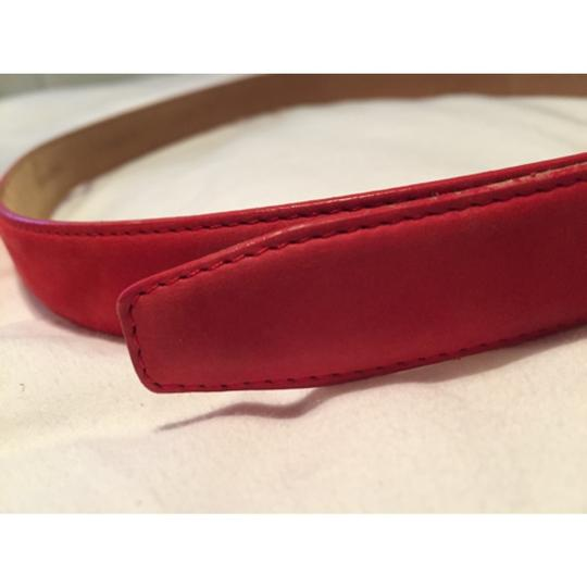 Tiffany & Co. Tiffany & Co Red Suede Belt