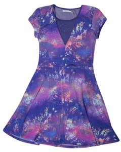 Kimchi Blue short dress Purple Branches Print Skater on Tradesy