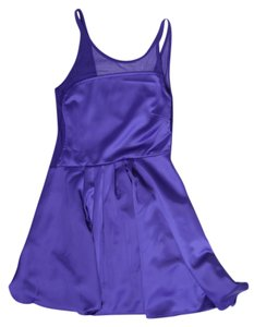 Nasty Gal short dress Purple Satin Asymmetrical on Tradesy