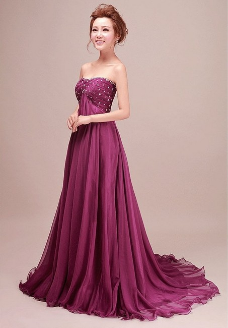 Jo Ball Gown Party Evening Prom Chiffon Strapless Dress