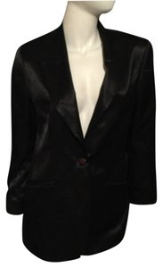 Guy Laroche Black Black Satin Blazer