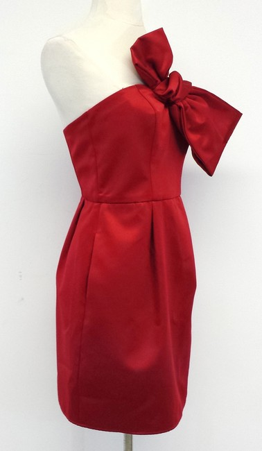 A.B.S. by Allen Schwartz short dress Red Bow Strapless on Tradesy