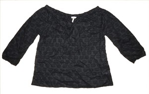 Old Navy Bohemian Hippie Textured Top Black