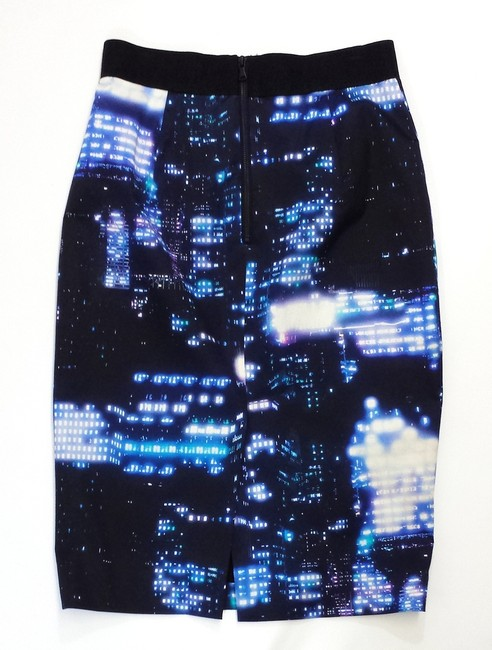 MILLY City At Night Cotton Blend Skirt