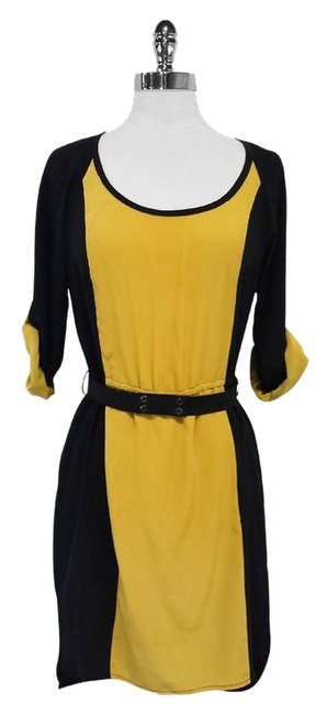 Preload https://item3.tradesy.com/images/tracy-reese-black-and-yellow-silk-mid-length-short-casual-dress-size-4-s-10231957-0-1.jpg?width=400&height=650