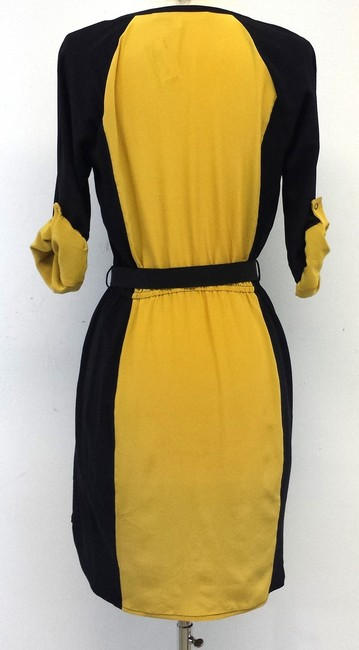 Tracy Reese short dress Black Yellow Silk on Tradesy