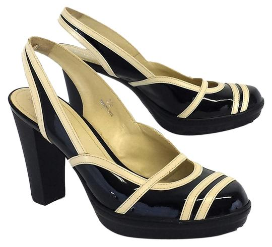 Preload https://item3.tradesy.com/images/tod-s-cream-and-black-patent-leather-heels-sandals-size-us-8-10232302-0-1.jpg?width=440&height=440