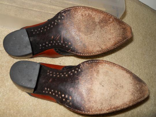 Old Gringo Leather Western Wing Tip black & brown Mules