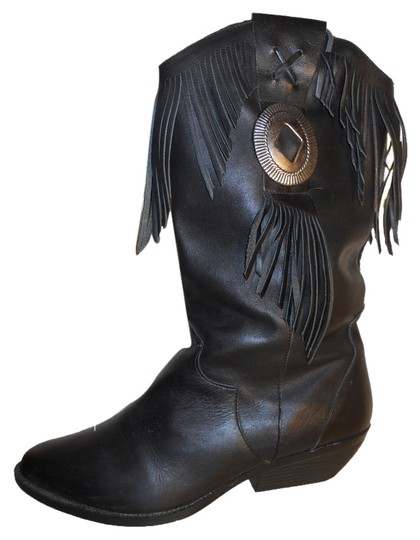 Preload https://item4.tradesy.com/images/black-fringed-western-bootsbooties-size-us-95-regular-m-b-10232428-0-1.jpg?width=440&height=440