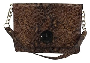 Kate Spade Brown Snakeskin Embossed Shoulder Bag