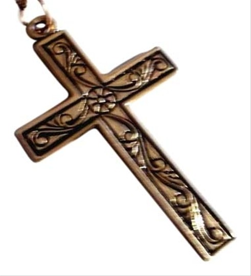 Preload https://item5.tradesy.com/images/artistry-yellow-gold-small-gold-filled-religious-cross-pendant-wfloral-embossed-surface-by-inches-gi-10233394-0-2.jpg?width=440&height=440