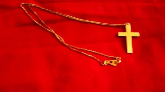 Artistry Small Gold-Filled Religious Cross Pendant W/Floral Embossed Surface by Artistry, 9 Inches, Necklace Gift for Mother's Day