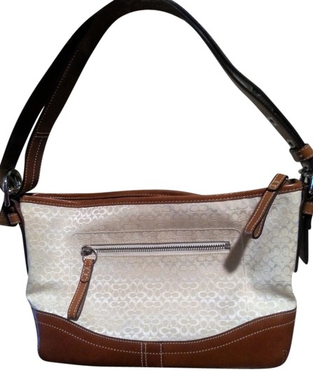 Preload https://item1.tradesy.com/images/coach-cream-canvasleather-shoulder-bag-10233565-0-1.jpg?width=440&height=440