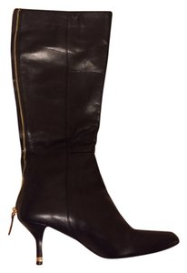 Coach Leather Leather Black Black leather Boots