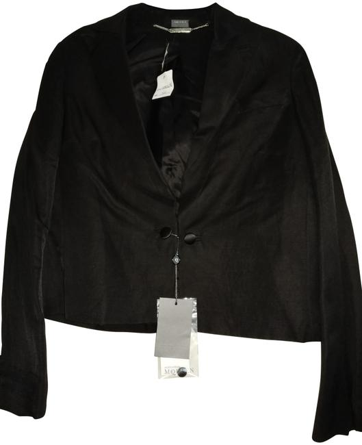 Alexander McQueen Black Cropped with Flared Sleeve Jacket Size 8 (M) Alexander McQueen Black Cropped with Flared Sleeve Jacket Size 8 (M) Image 1
