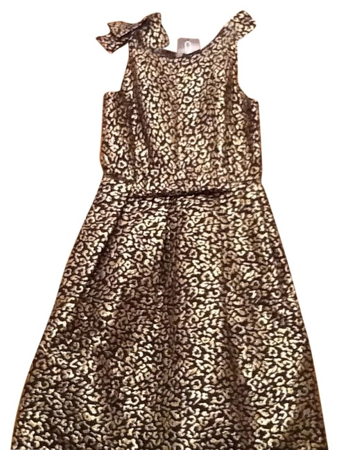 Preload https://img-static.tradesy.com/item/10233685/black-with-gold-leopard-print-party-new-tags-above-knee-night-out-dress-size-2-xs-0-2-650-650.jpg