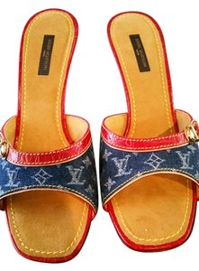 Louis Vuitton Monogram denim Mules