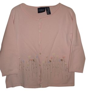 LizSport Summer Cardigan Embroidered 3/4 Sleeves Sweater