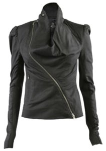 AllSaints Leather Dresden Asymmetric Leather Jacket