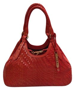 Cole Haan Tote in Spicy Orange Red Orange Brown Golden Brown
